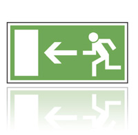E001 Úniková cesta - tabulka