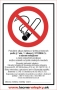 Zákaz fajčiť s doplnkovým textom