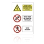 322 Výstraha, Nehas vodou, Vstup zakázaný