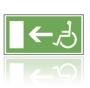 E020 Únikový východ pre zdravotne postihnutých  - nálepka