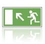 E021 Úniková cesta - únikový východ nahor - nálepka