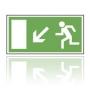 E022 Úniková cesta - únikový východ nadol - nálepka