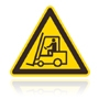 W 007 Nebezpečenstvo pohybu priemyselných vozidiel
