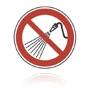 Zákaz striekania vodou